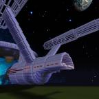 Entstehung der USS NCC 1701 in MC 1.8 im Kreativmodus